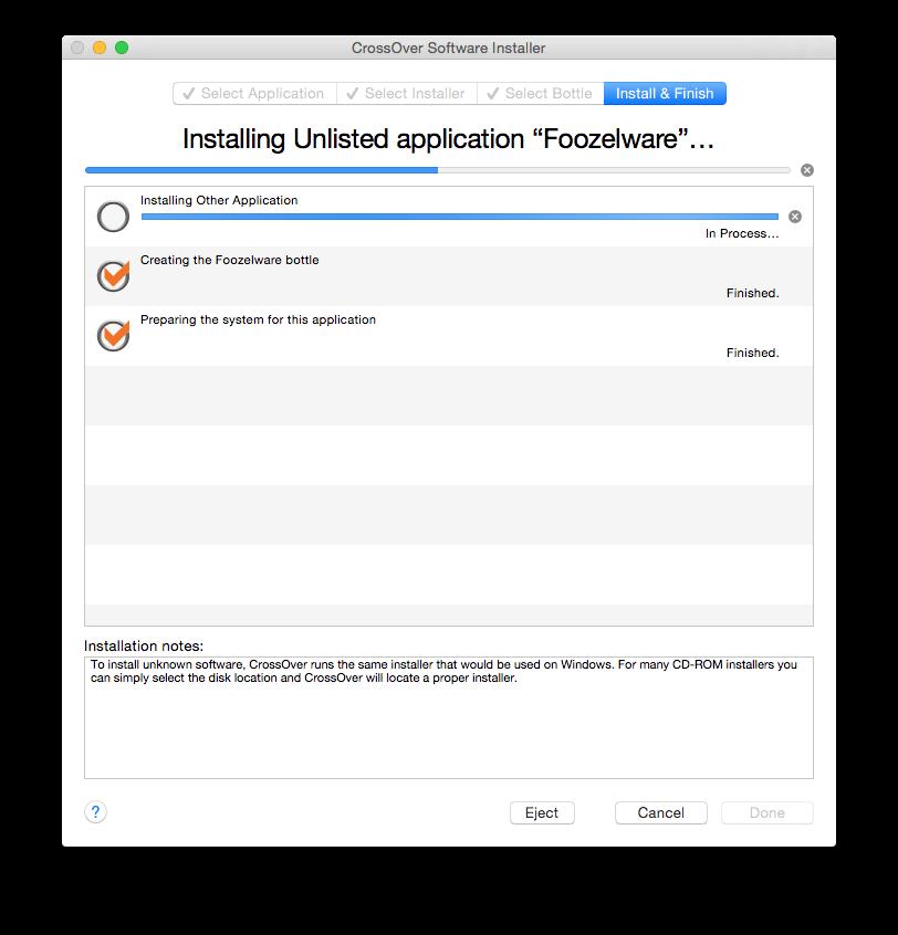 CrossOver (prima della versione 6 era chiamato CrossOver Office) è un programma proprietario sviluppato da CodeWeavers che permette a molte applicazioni basate su .